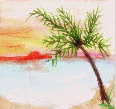 Palm Leaning Left by Debbie Wassmann
