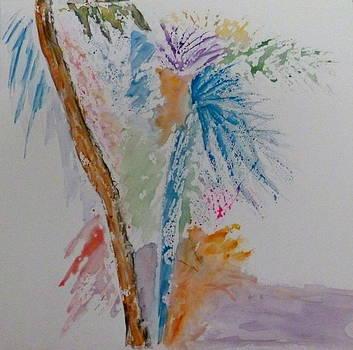 Palm Shadows by Nancy Nuce