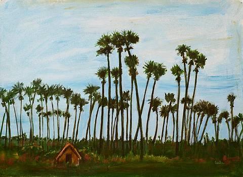 Usha Shantharam - Palm Sihouette