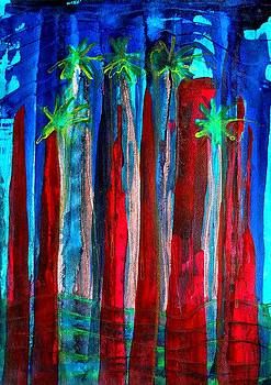 Palm Springs Nocturne original painting by Sol Luckman