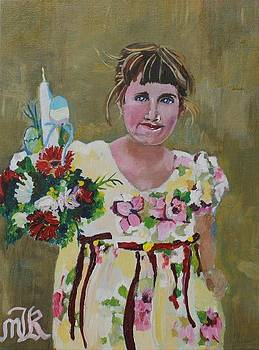 Palm Sunday Palestinian Girl by Marwan  Khayat