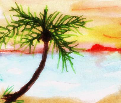Palm Tree Leaning Right by Debbie Wassmann