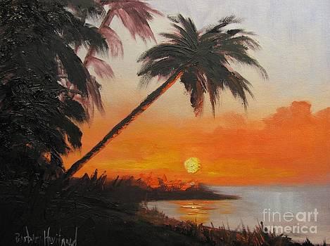 Palm Trees at Sunset by Barbara Haviland