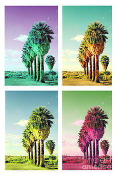 Palm trees pop art by Isabel Poulin