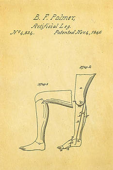 Ian Monk - Palmer Artificial Leg Patent Art 1846