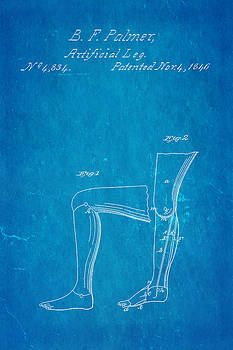 Ian Monk - Palmer Artificial Leg Patent Art Blueprint 1846