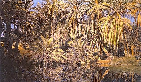 Palmeral En El Agua by Victor  Candela