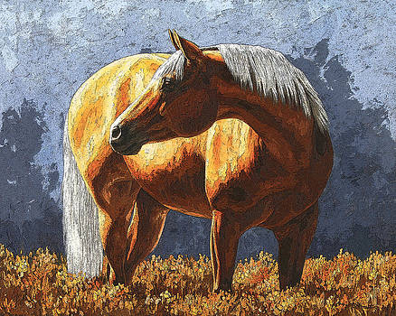 Palomino Horse - Variation by Crista Forest