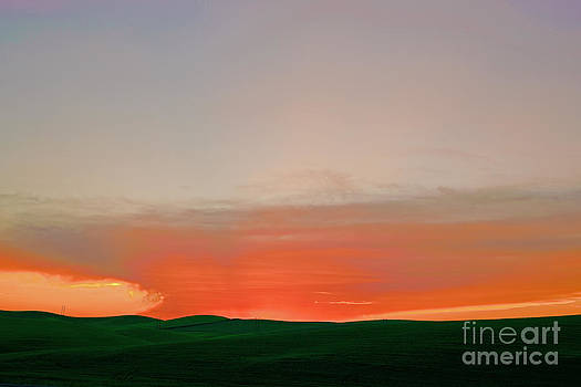 Palouse sunset by Russell Christie