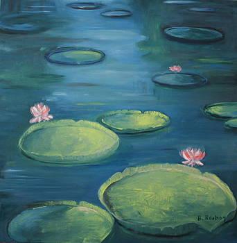 Pamplemousse Water Lilies by Brigitte Roshay