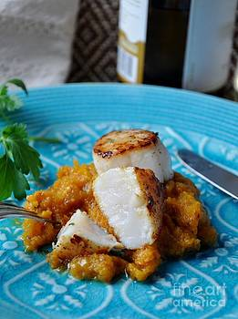 Pan-Seared Scallops with Butternut Squash Mash by Maureen Cavanaugh Berry