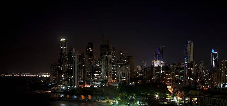 Panama City at night by Ivan SABO