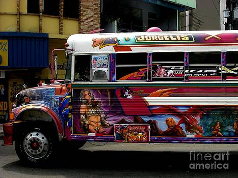 Panamanian Bus by Sylvie Heasman