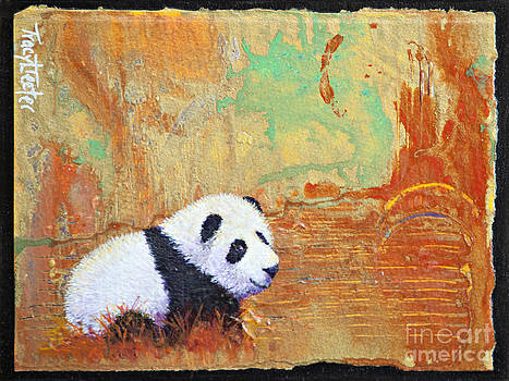 Panda Abstract by Tracy L Teeter