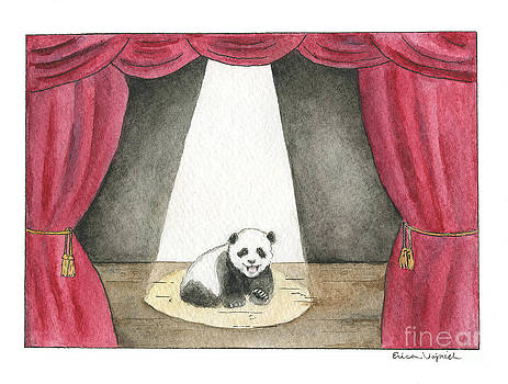 Panda Cub on Center Stage by Erica Vojnich