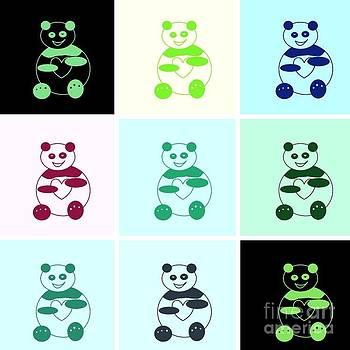Pandas pandas everywhere by Ausra Huntington nee Paulauskaite