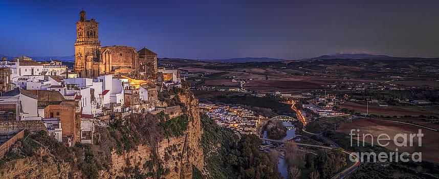 Panorama from Balcon de la Pena  Arcos De La Frontera Cadiz Spain by Pablo Avanzini