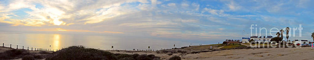 Panorama La Jolla Sunset by Timothy OLeary