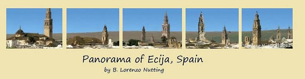 Panorama of Ecija Spain by Bruce Nutting