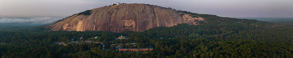 Panorama Of Stone Mountain Relief by Peter Essick