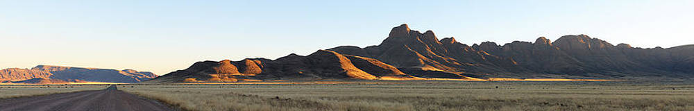 Panorama of the Namibrand area in Namibia by Grobler Du Preez