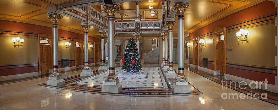 Panorama of West Atrium  Connecticut State House by Thomas Marchessault
