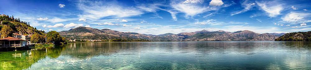 Panoramic Lake Kastoria Greec by Alastair Graham