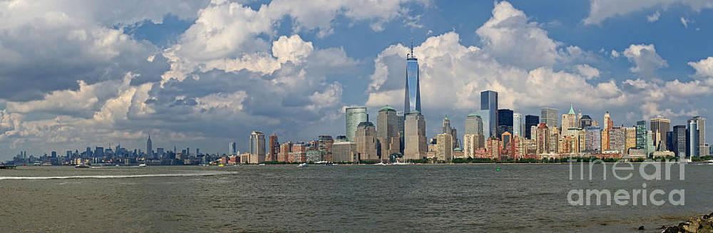 Panoramic of New York City by Cathy Alba