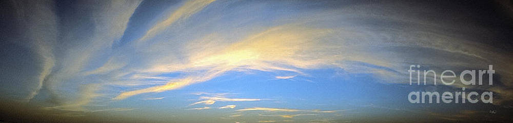 Ginette Callaway - Panoramic Sunset Skyscape Over Pine Island Florida Dec 31st 2012