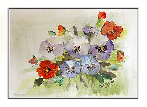 Pansies Already Framed by Dorothy Maier