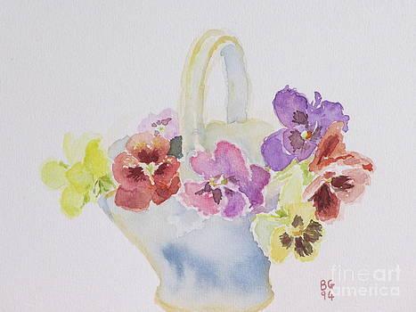 Pansies in a basket by Bernice Grundy