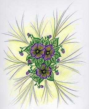 Pansies by Susan Turner Soulis