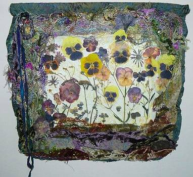 Pansy Patch Art Quilt by Pam Reed