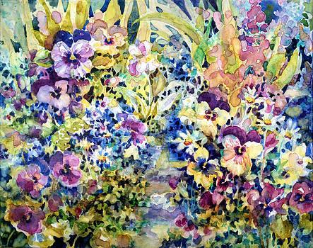 Pansy Path by Ann  Nicholson