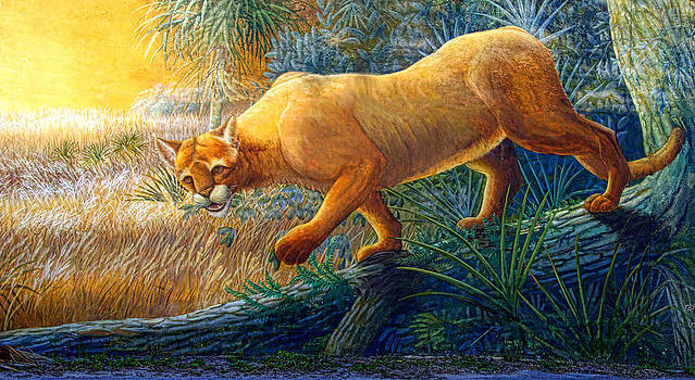 Linda Rae Cuthbertson - Florida Panther - Painted Wall Mural