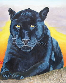 Panther.A study in blue. by Alan Wilkinson