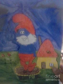 Papa Smurf exercise by Amelia Rodriguez