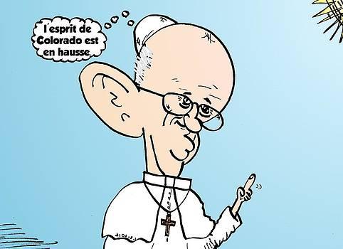 Pape Francois sur Colorado et le THC comique by OptionsClick BlogArt