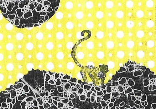 Paper Monkey Black Moon by Glenda Kotchish