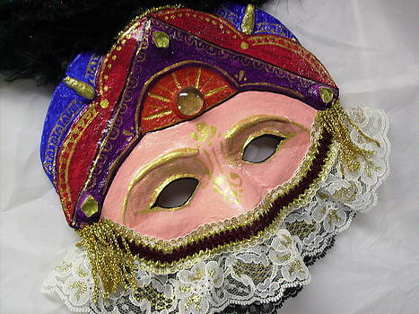 Papier Mache Carnival Wall Mask by Jan Wendt