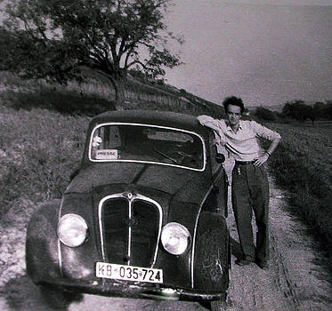 Colette V Hera  Guggenheim  - Papa Hans around Alba south france in his younger days 1954