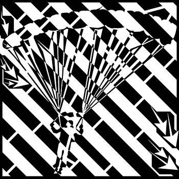 Parachuters Descent Maze  by Yonatan Frimer Maze Artist