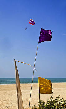 Kantilal Patel - Paraglider over purple flag