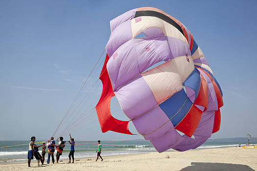 Kantilal Patel - Paragliding a Beach Sport