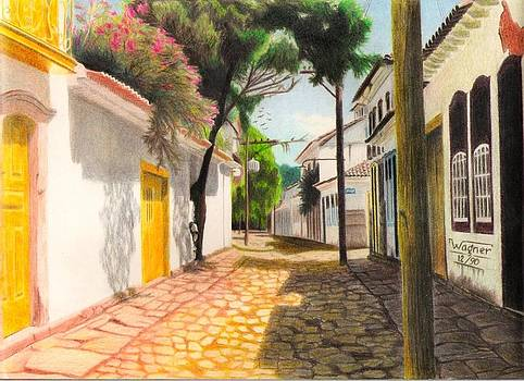 Paraty - Brazil - Tree into the wall by Wagner Chaves