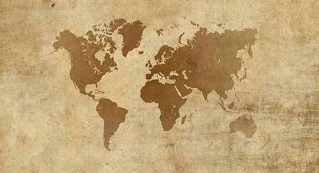 Hakon Soreide - Parchment World Map