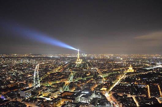Paris at night by Victoria Dimitrova