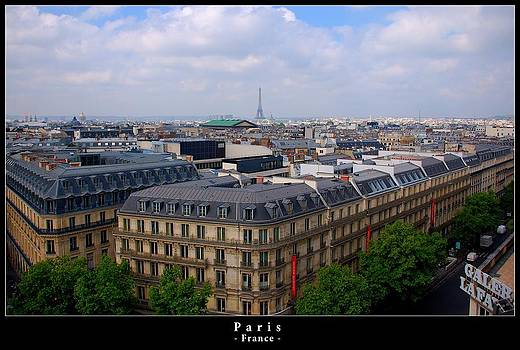 Paris from above by Dany Lison