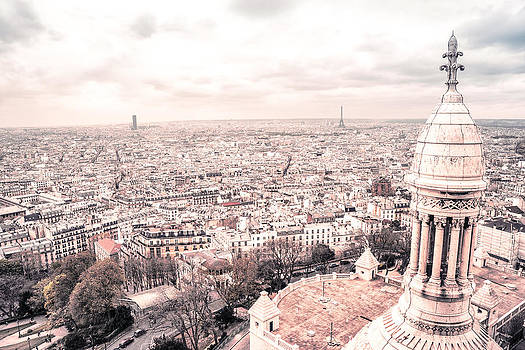 Paris from Above - View from Sacre Coeur Basilica by Vivienne Gucwa