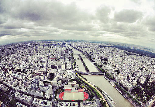 Paris from the Eiffel Tower by Tanis Crooks
